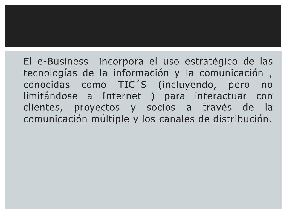 ¿Cuál es el objetivo de los Negocios electrónicos ó e- business? CONCLUYE…