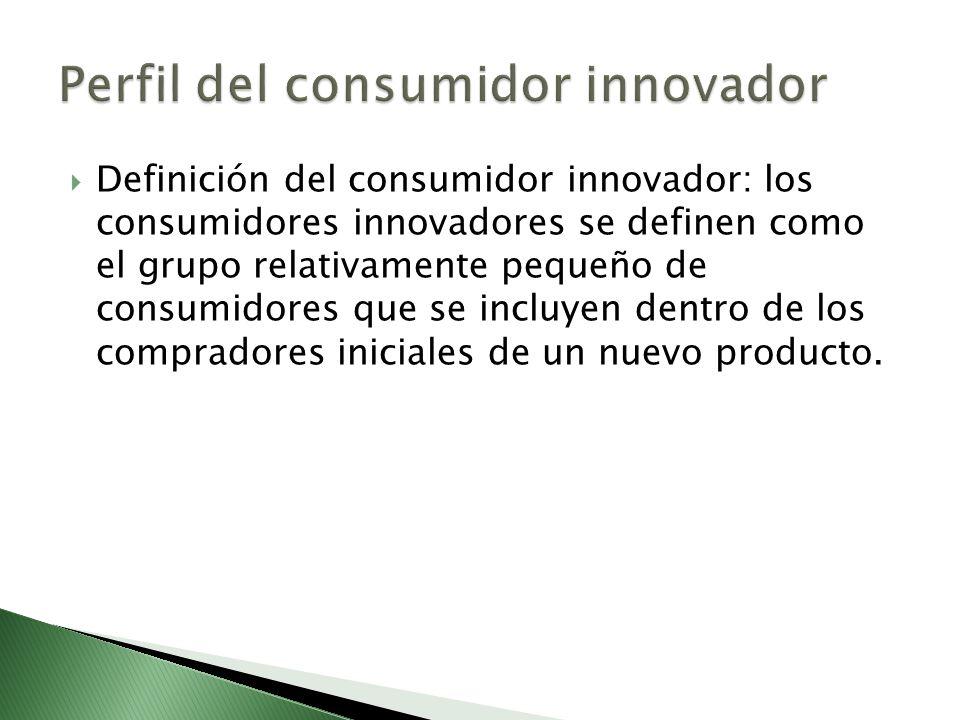 Definición del consumidor innovador: los consumidores innovadores se definen como el grupo relativamente pequeño de consumidores que se incluyen dentr