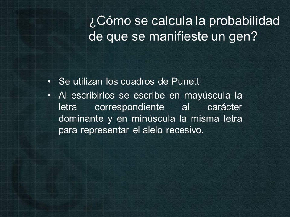 ¿Cómo se calcula la probabilidad de que se manifieste un gen.