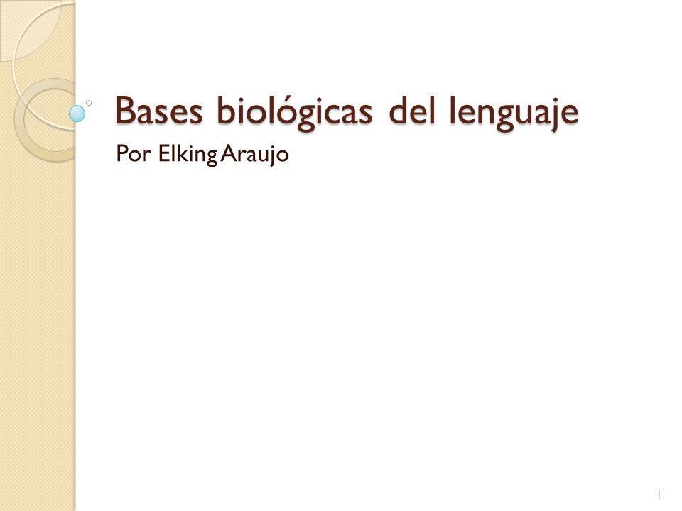 Bases biológicas del lenguaje Por Elking Araujo 1