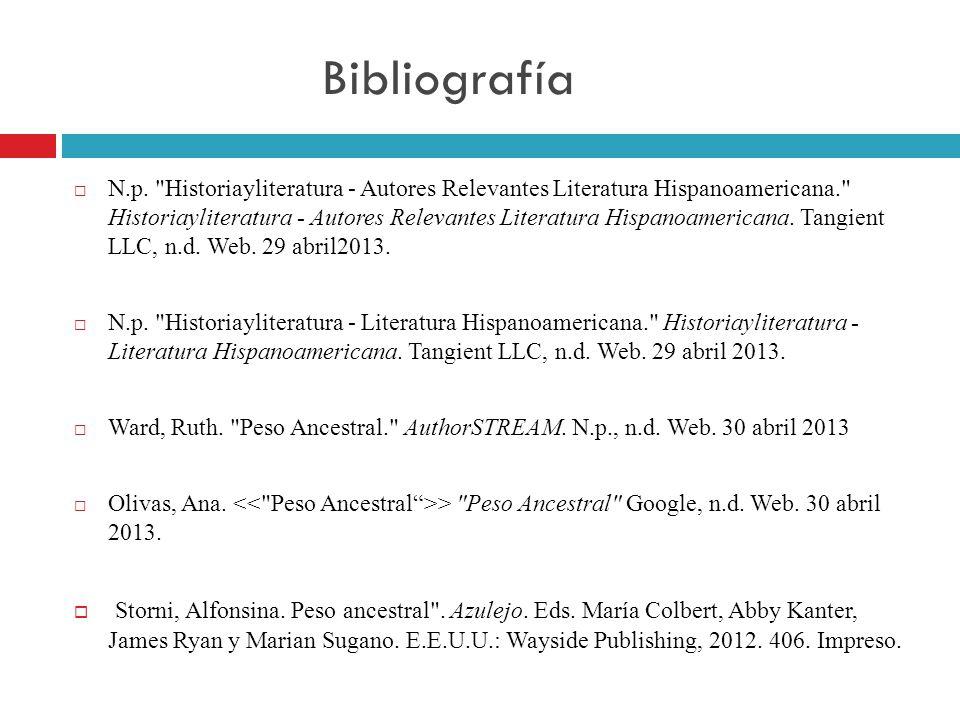 Bibliografía N.p.
