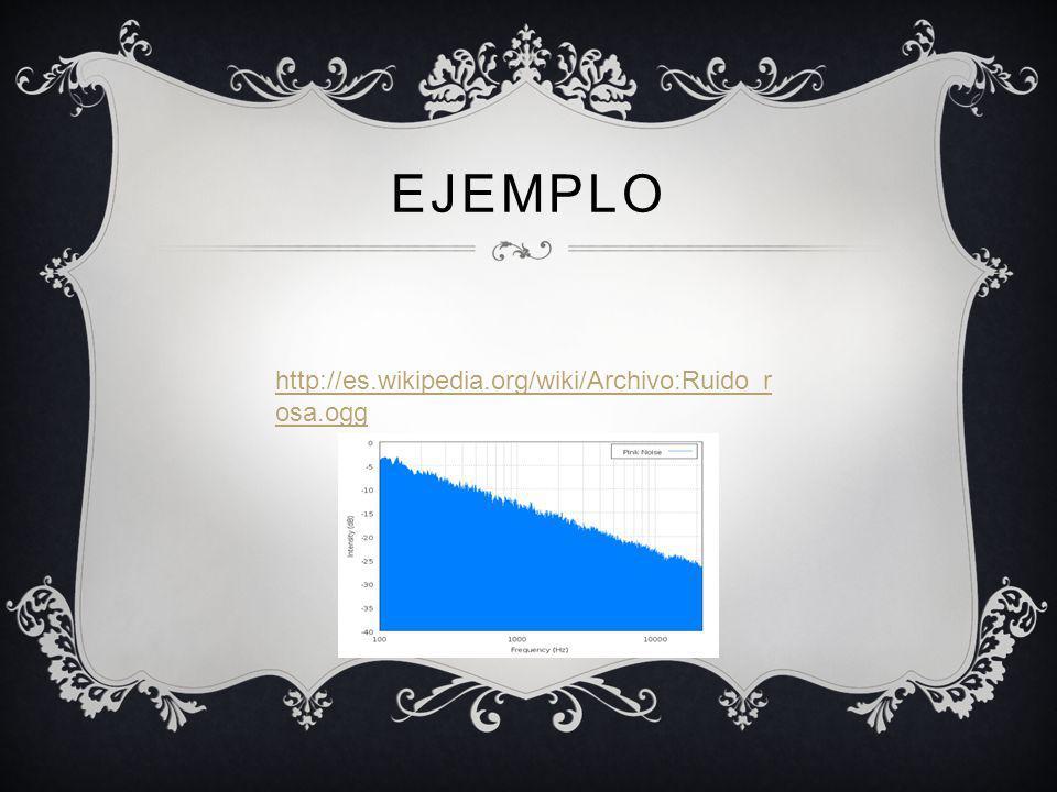 EJEMPLO http://es.wikipedia.org/wiki/Archivo:Ruido_r osa.ogg