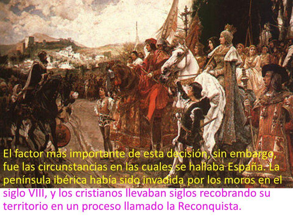 En enero de 1492, siete siglos después, Fernando e Isabel completaron la Reconquista al tomar la ciudad de Granada, la última ciudad árabe de España.