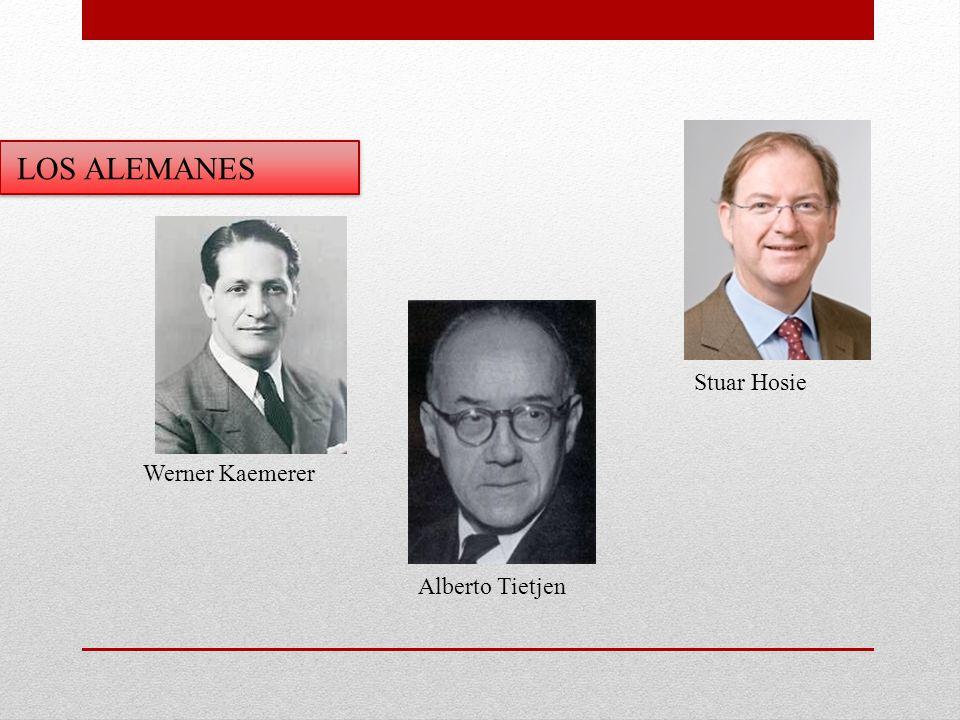 LOS ALEMANES Alberto Tietjen Stuar Hosie Werner Kaemerer
