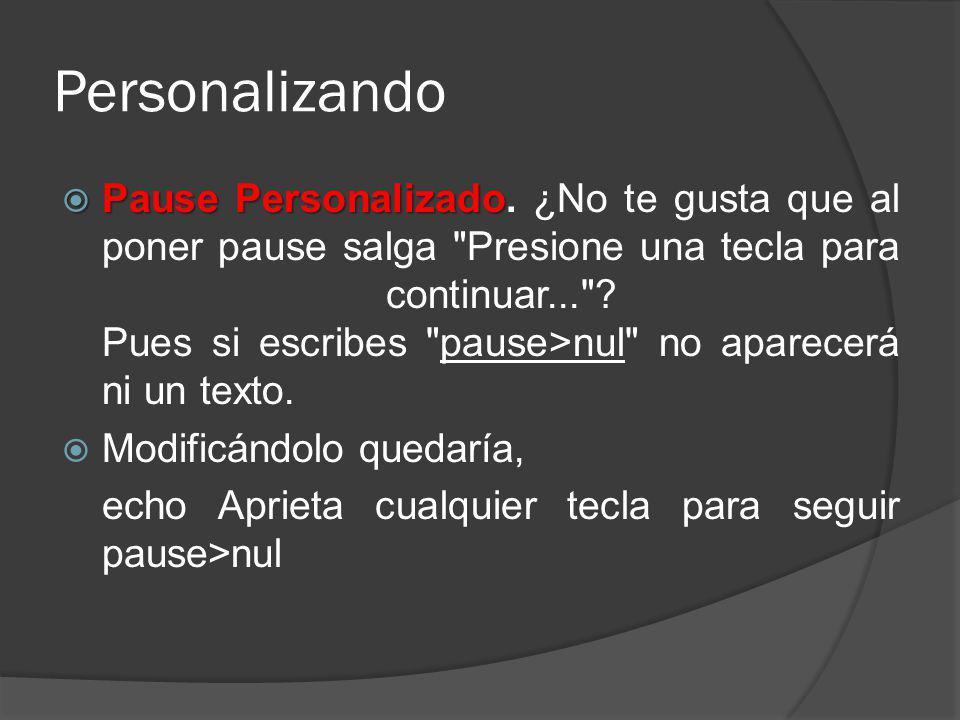 Personalizando Pause Personalizado Pause Personalizado. ¿No te gusta que al poner pause salga