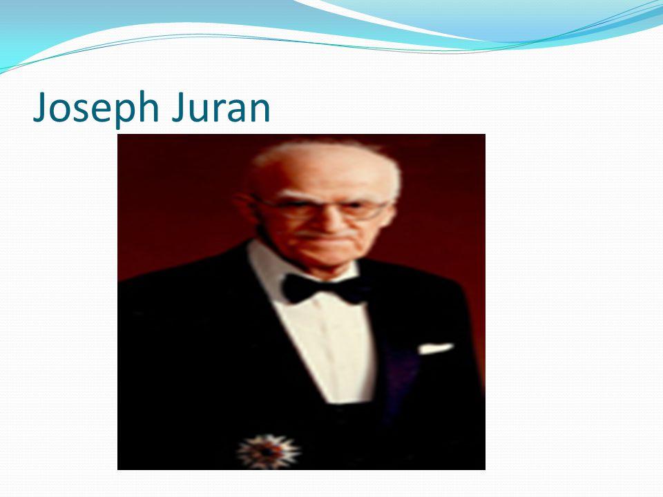 Joseph Juran nació en Rumanía el 24 de Diciembre de 1904, su familia emigró hacia Estados Unidos, estableciéndose en Minneapolis en 1912.