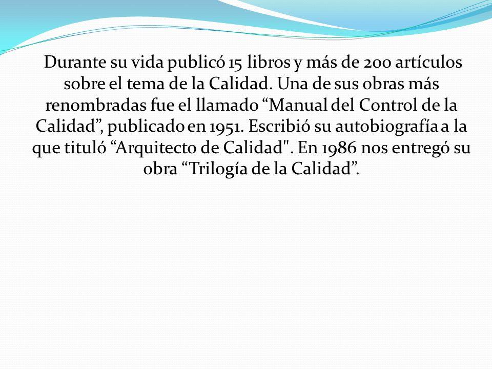 La Trilogía de Jurán, publicada en 1986, ha sido identificada y aceptada a nivel mundial como una de las bases de la gestión de calidad.