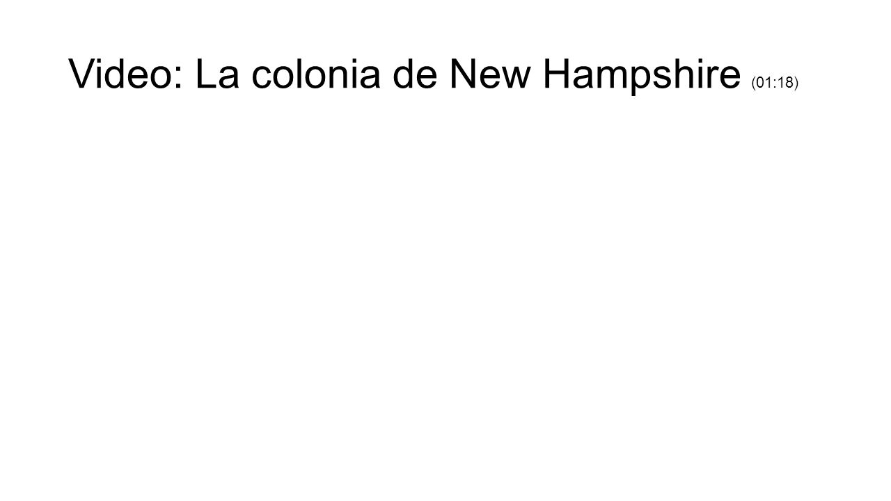 Video: La colonia de New Hampshire (01:18)