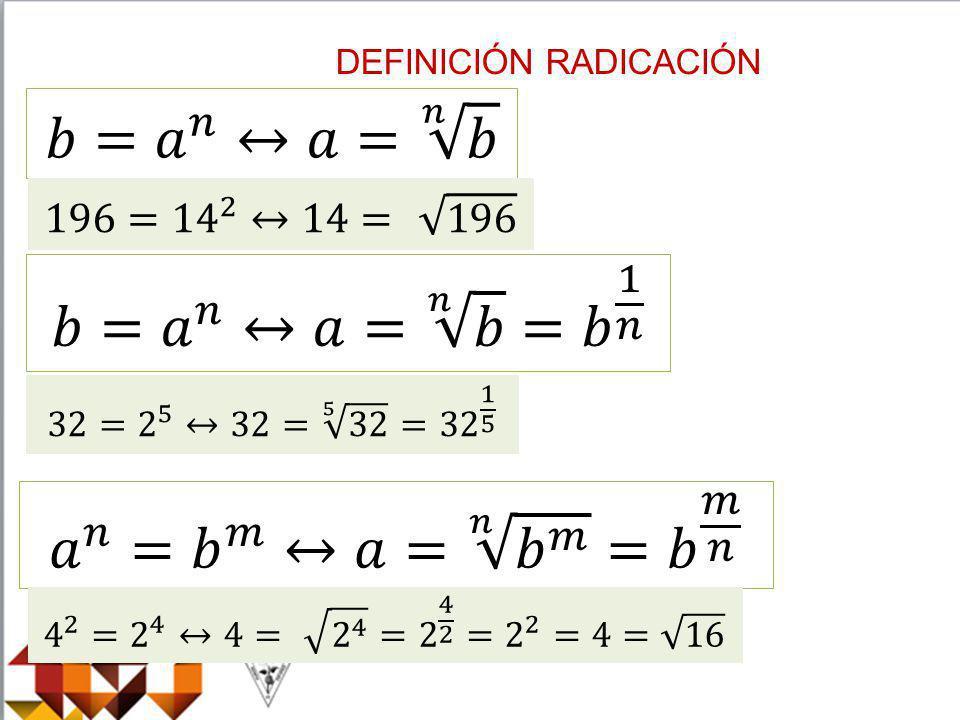 DEFINICIÓN RADICACIÓN