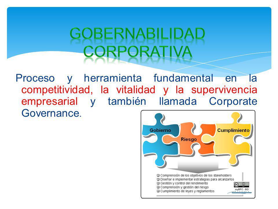 Proceso y herramienta fundamental en la competitividad, la vitalidad y la supervivencia empresarial y también llamada Corporate Governance.