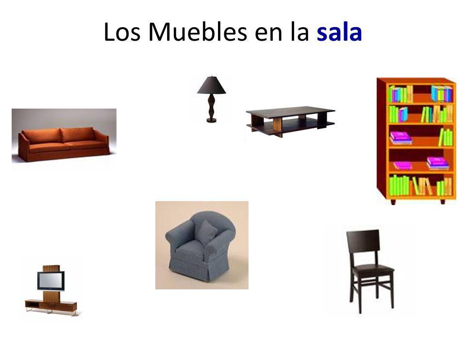 Los Muebles en la sala