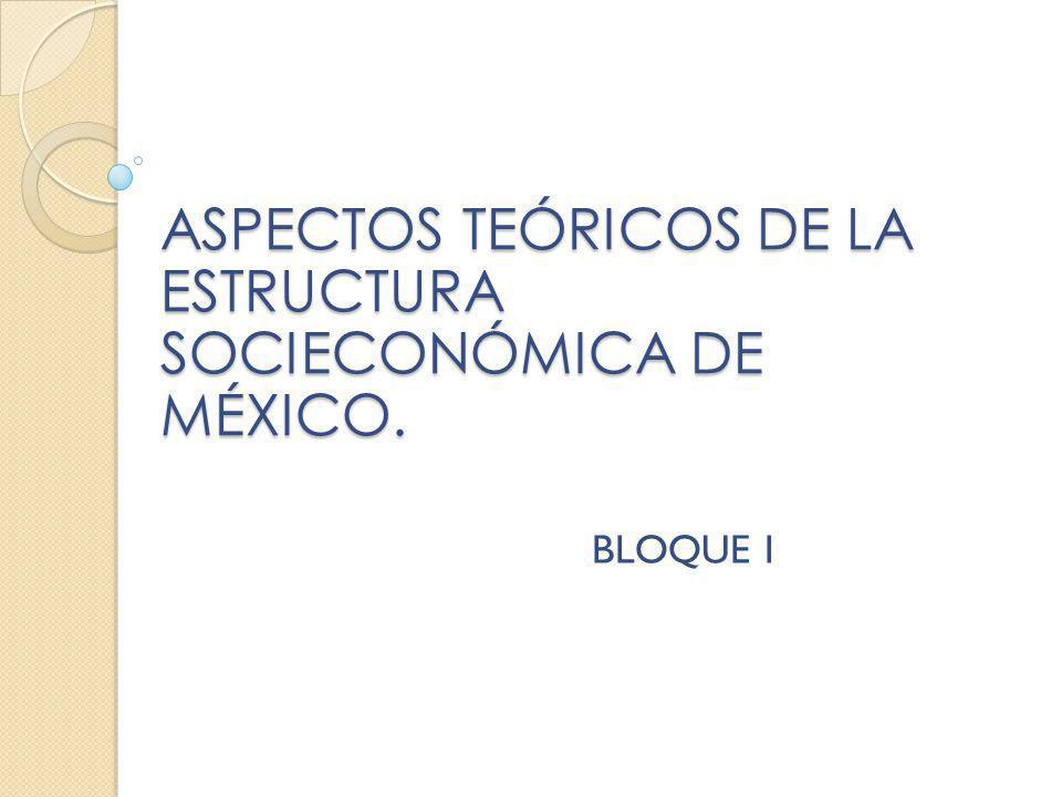 ASPECTOS TEÓRICOS DE LA ESTRUCTURA SOCIECONÓMICA DE MÉXICO. BLOQUE I
