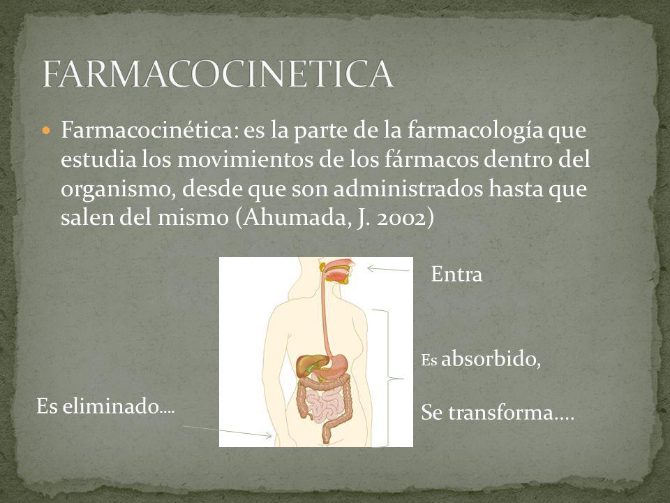 Se le conoce con el nombre de farmacodinamia a la parte de la farmacología que estudia el mecanismo de acción y los efectos de los fármacos.