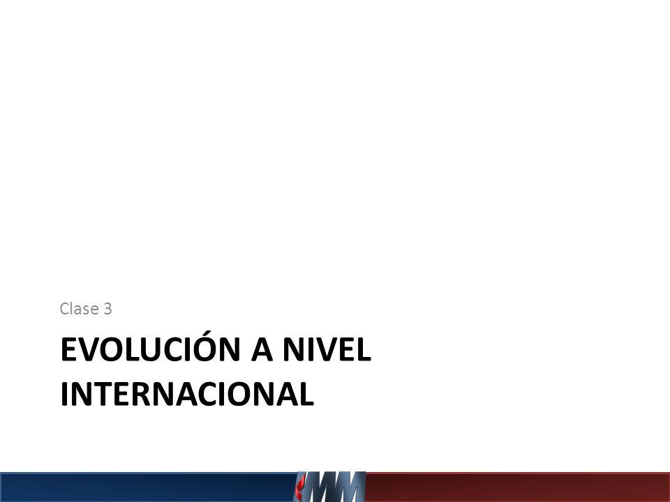 EVOLUCIÓN A NIVEL INTERNACIONAL Clase 3