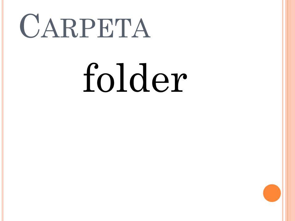 H OJA DE PAPEL Sheet of paper