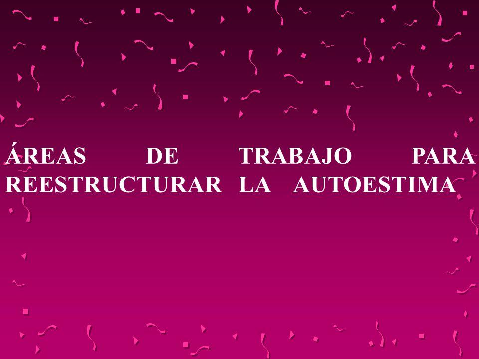 ÁREAS DE TRABAJO PARA REESTRUCTURAR LA AUTOESTIMA