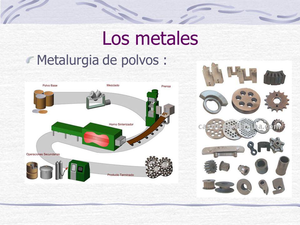 Metalurgia de polvos : Los metales
