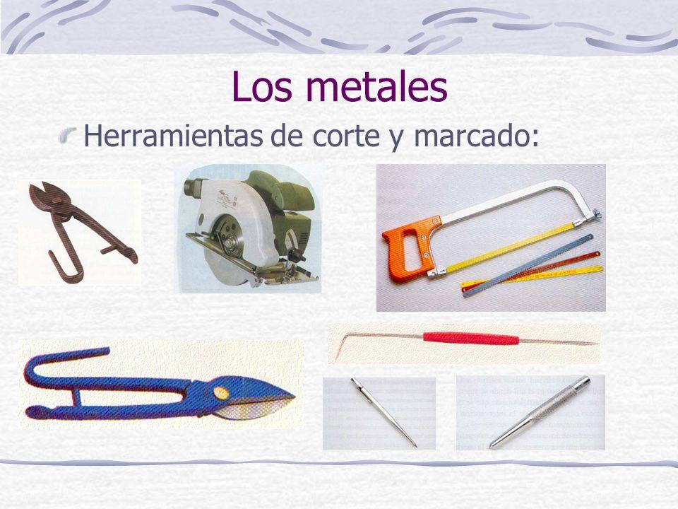 Herramientas de corte y marcado: Los metales