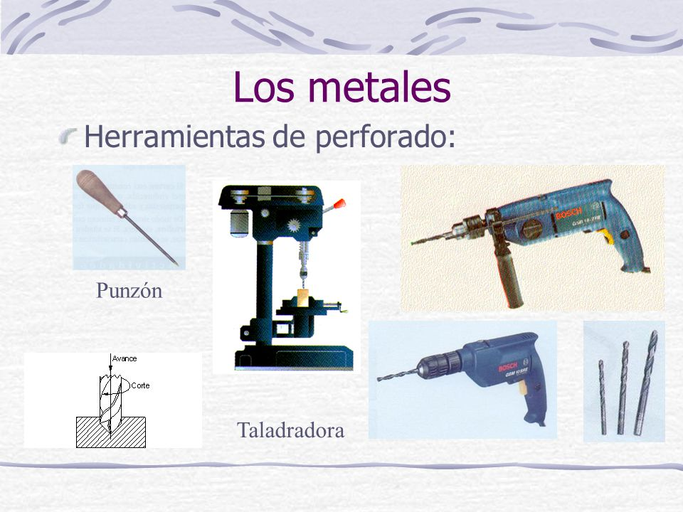 Herramientas de perforado: Los metales Punzón Taladradora