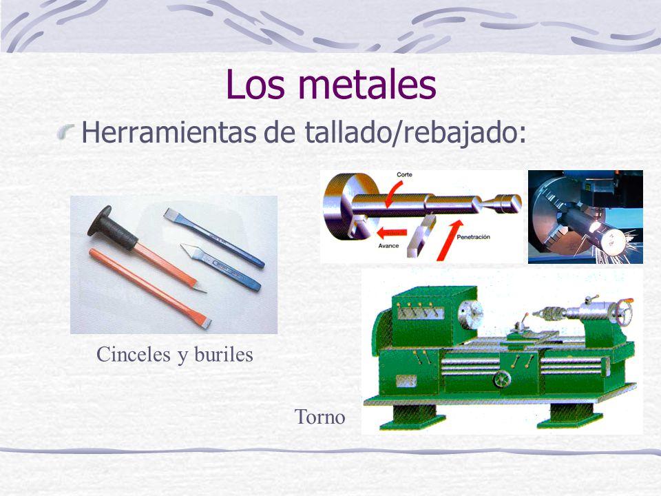 Herramientas de tallado/rebajado: Los metales Cinceles y buriles Torno