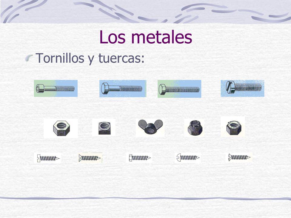 Tornillos y tuercas: Los metales