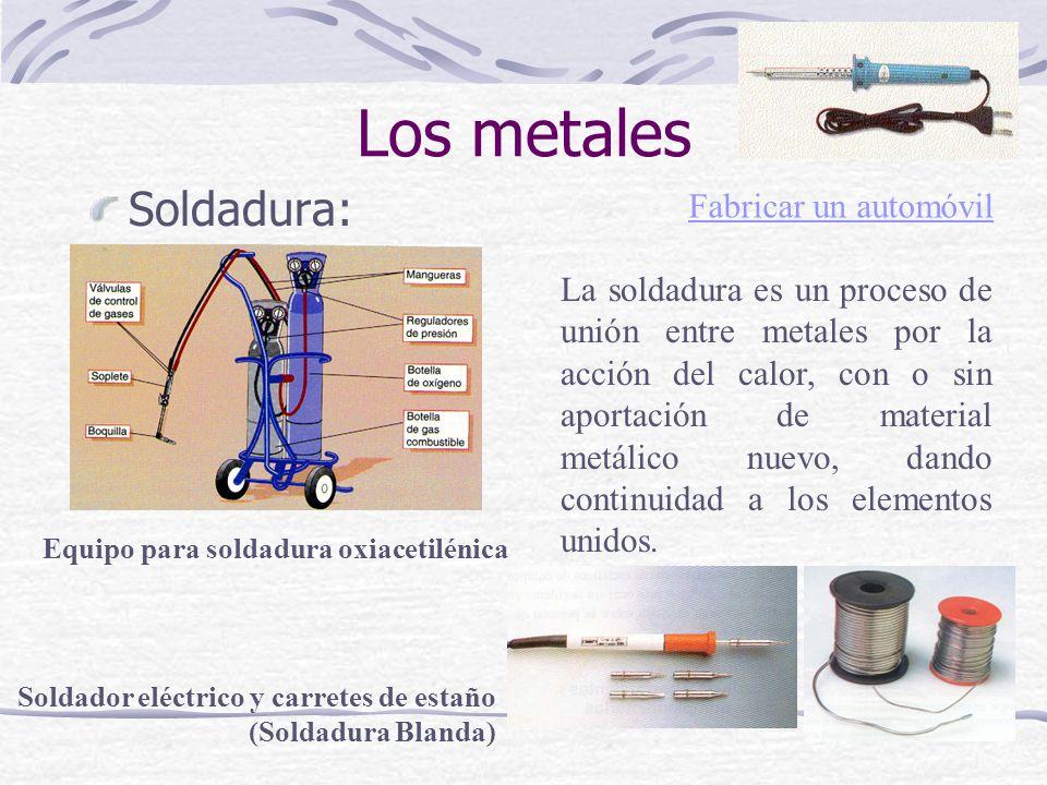 Soldadura: Equipo para soldadura oxiacetilénica La soldadura es un proceso de unión entre metales por la acción del calor, con o sin aportación de mat