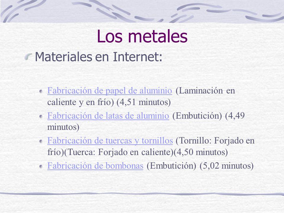 Los metales Materiales en Internet: Fabricación de papel de aluminioFabricación de papel de aluminio (Laminación en caliente y en frío) (4,51 minutos)