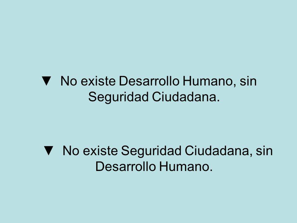No existe Desarrollo Humano, sin Seguridad Ciudadana. No existe Seguridad Ciudadana, sin Desarrollo Humano.