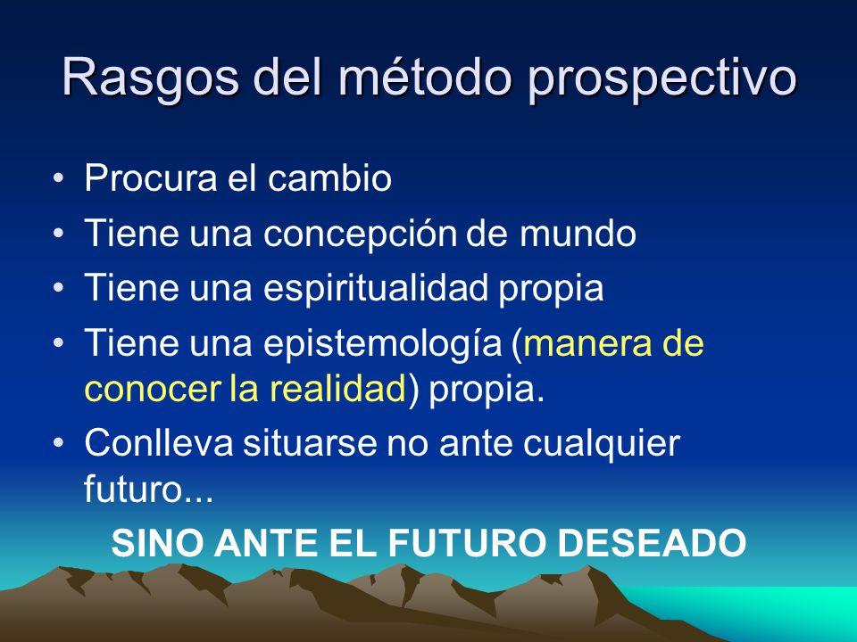 Actitud Prospectiva = Estar en la tónica de la esperanza.