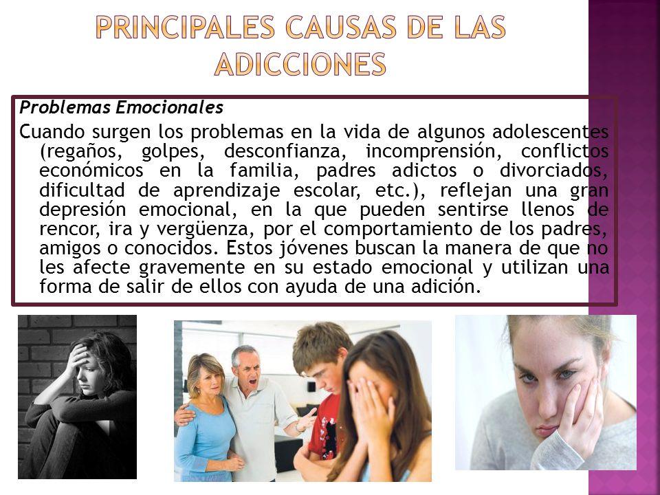 Problemas Emocionales Cuando surgen los problemas en la vida de algunos adolescentes (regaños, golpes, desconfianza, incomprensión, conflictos económi
