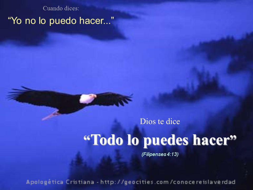 Cuando dices: Me siento muy solo... Dios te dice No te dejaré, ni te desampararé (Hebreos 13:5)