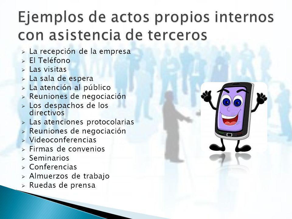 Serán aquellos que organiza la empresa dentro del ámbito de la misma y cuya función principal es la de la comunicación interna y propia de la empresa.