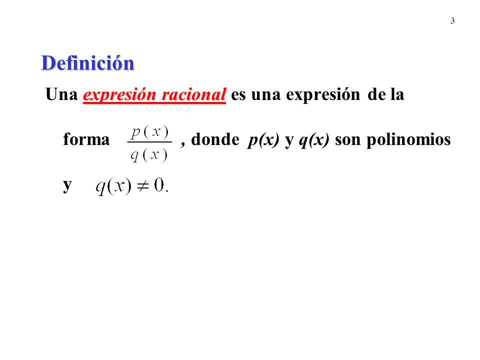 24 Procedimiento para simplificar fracciones complejas.
