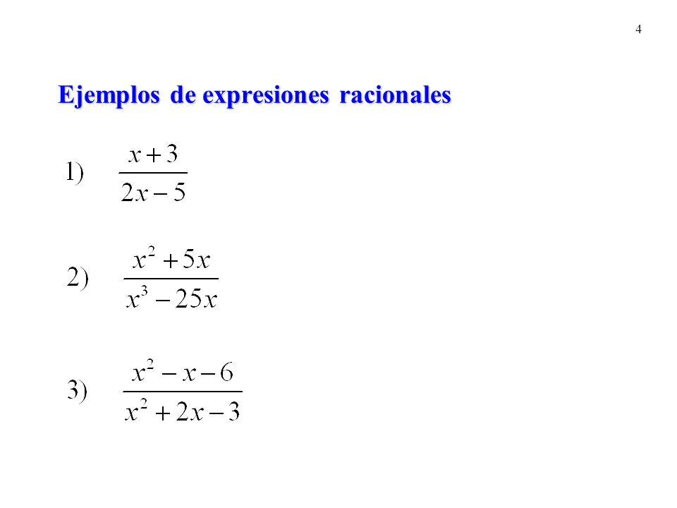 4 Ejemplos de expresiones racionales