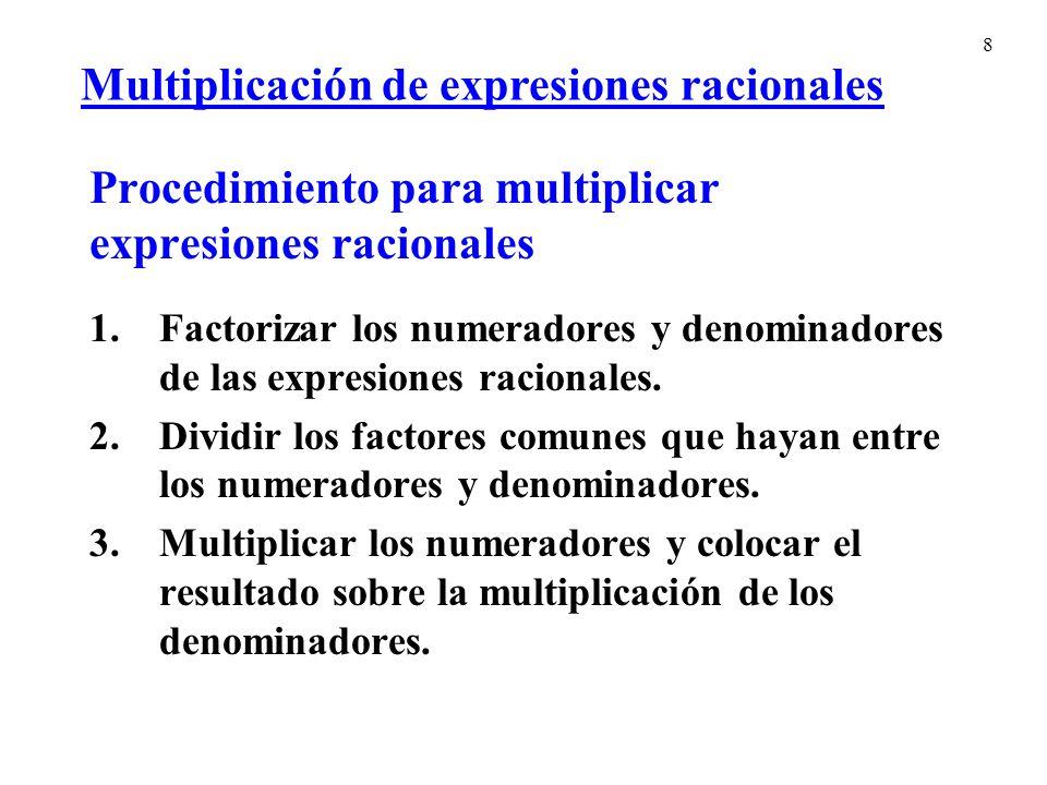 29 Simplifica la fracción compleja simplificando el numerador y el denominador primero.