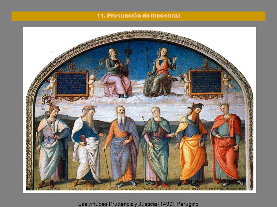 Las virtudes Prudencia y Justicia (1499). Perugino 11. Presunción de inocencia