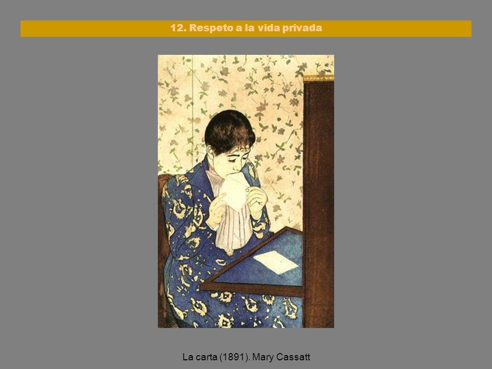 La carta (1891). Mary Cassatt 12. Respeto a la vida privada