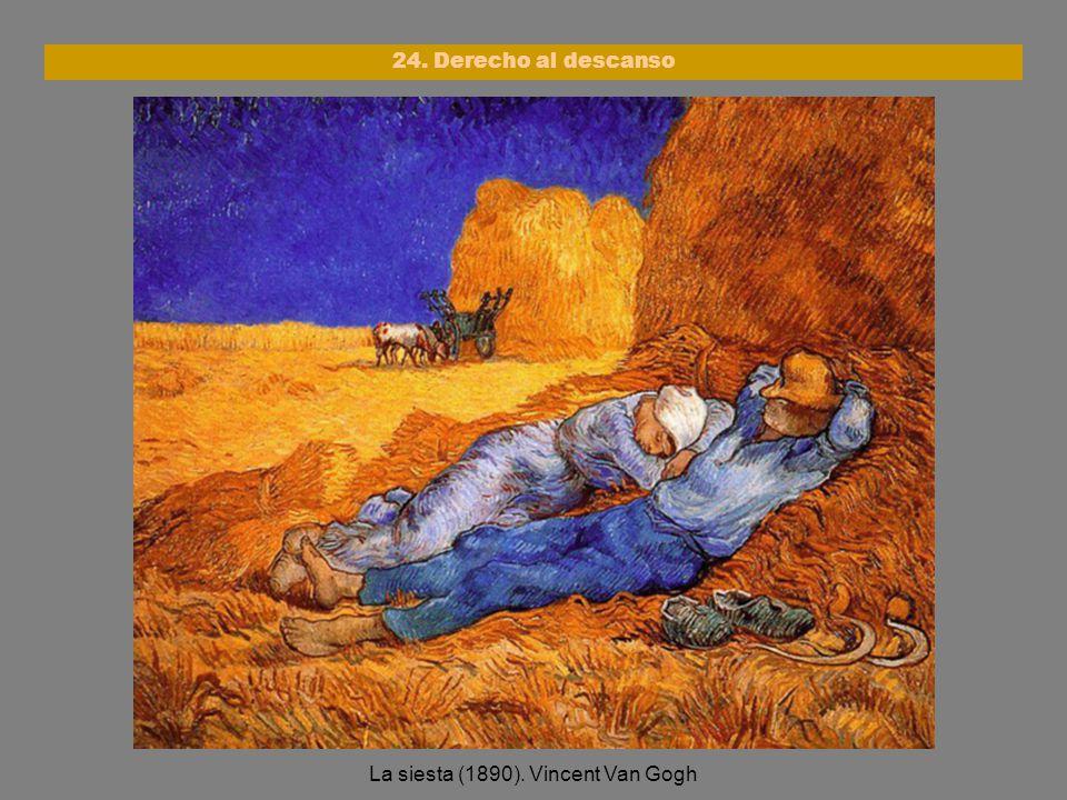 La siesta (1890). Vincent Van Gogh 24. Derecho al descanso