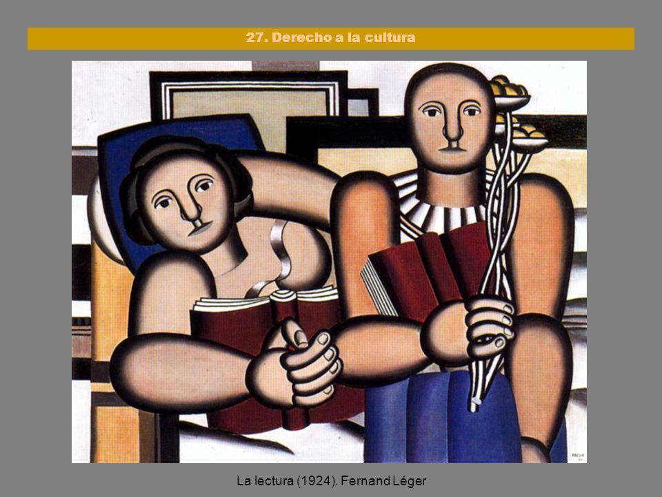 La lectura (1924). Fernand Léger 27. Derecho a la cultura