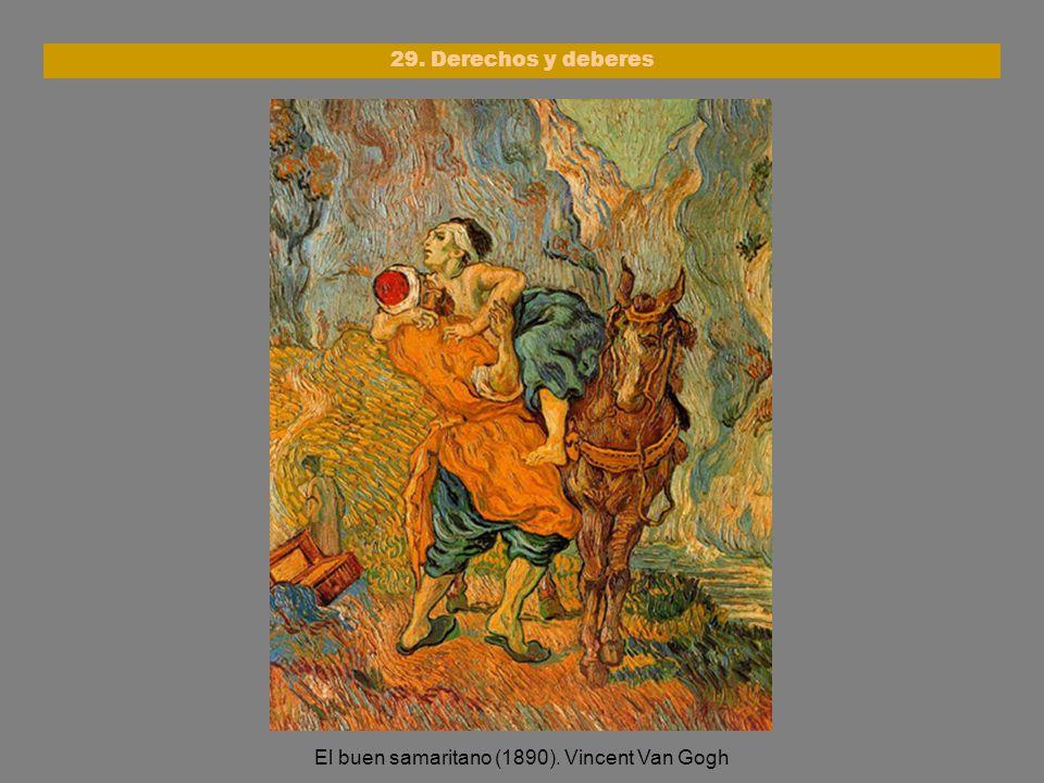 El buen samaritano (1890). Vincent Van Gogh 29. Derechos y deberes