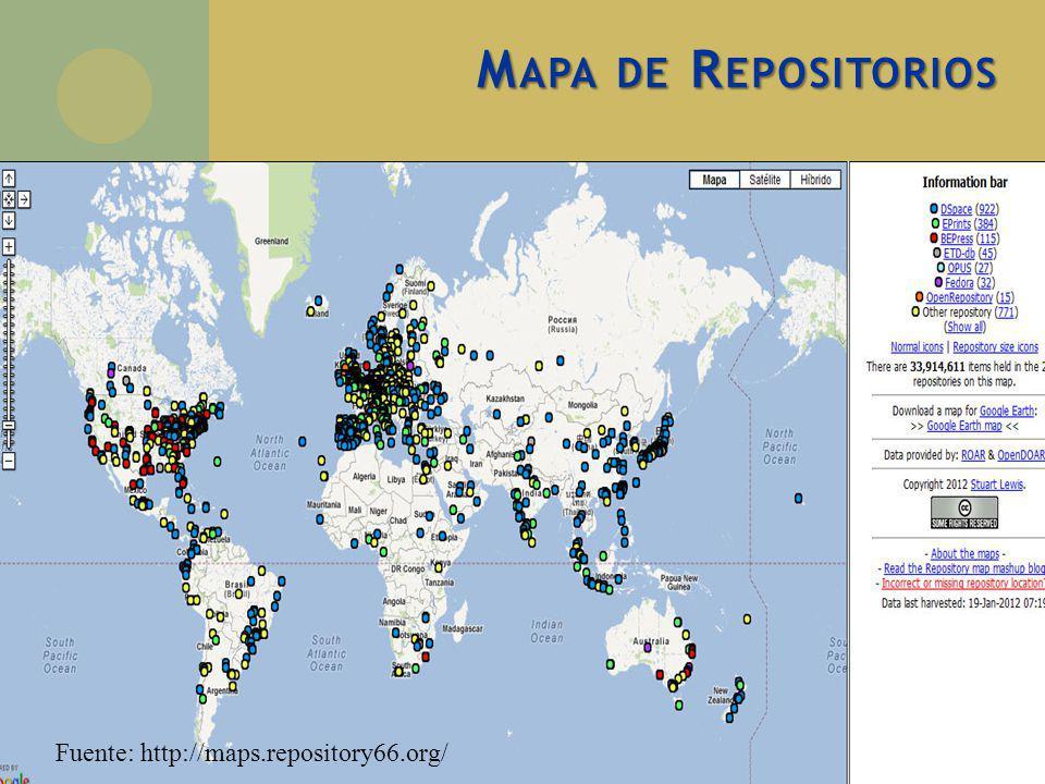 M APA DE R EPOSITORIOS Fuente: http://maps.repository66.org/