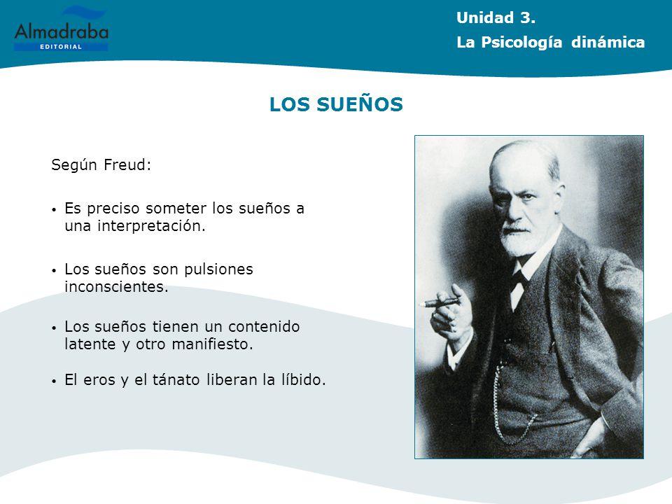 LOS SUEÑOS Según Freud: Es preciso someter los sueños a una interpretación. Los sueños son pulsiones inconscientes. Los sueños tienen un contenido lat