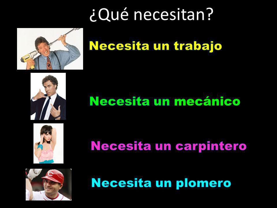 ¿Qué necesitan?