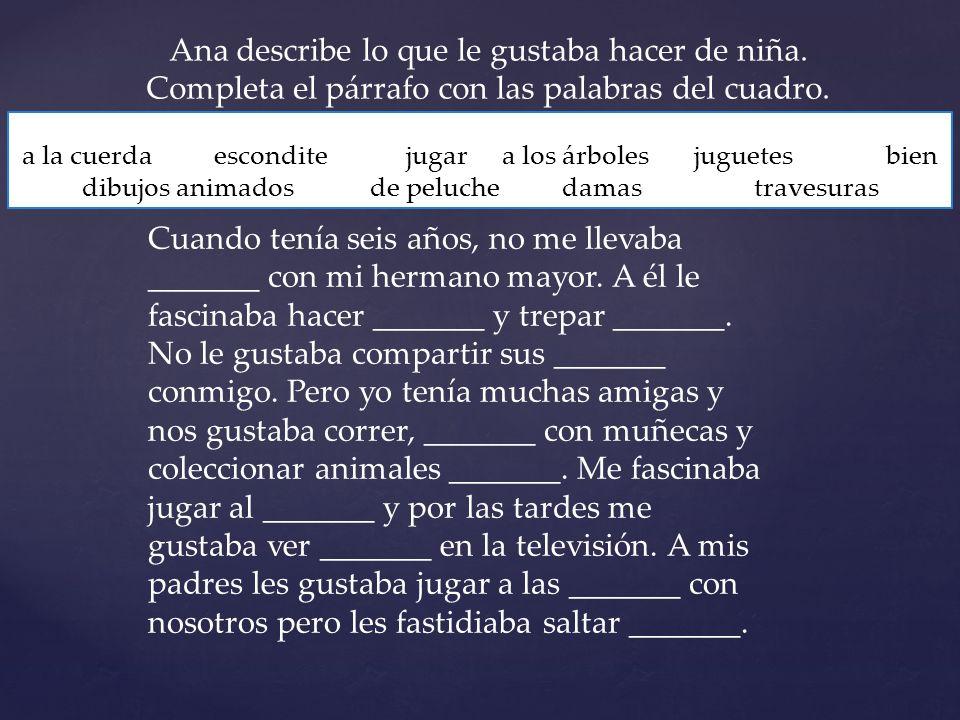 { Una familia española Español 2: Capítulo 6 Vocabulario 2