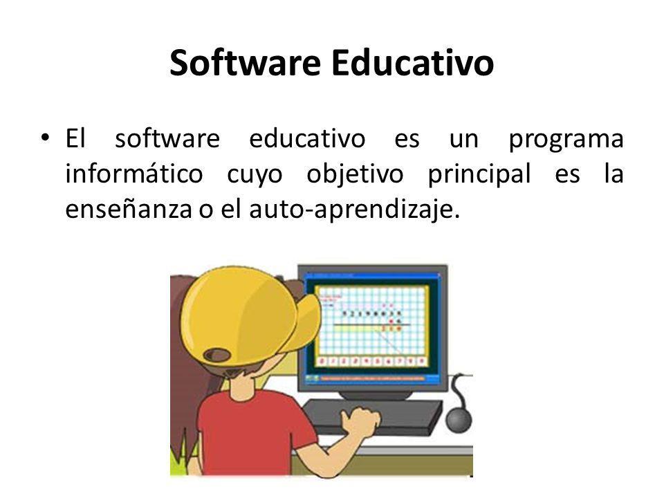 El software educativo es un programa informático cuyo objetivo principal es la enseñanza o el auto-aprendizaje.