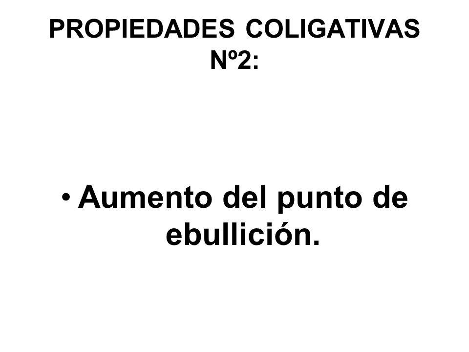 PROPIEDADES COLIGATIVAS Nº2: Aumento del punto de ebullición.