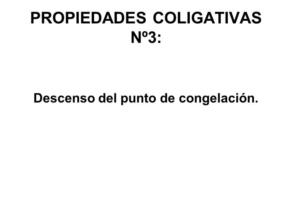 PROPIEDADES COLIGATIVAS Nº3: Descenso del punto de congelación.