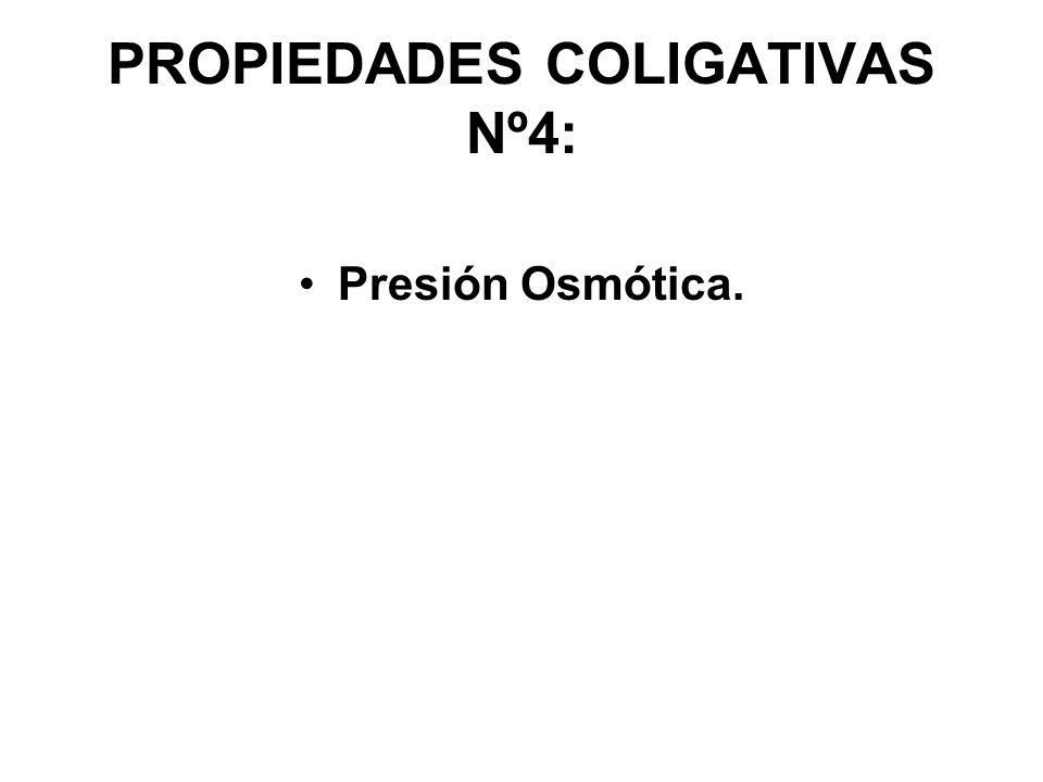 PROPIEDADES COLIGATIVAS Nº4: Presión Osmótica.