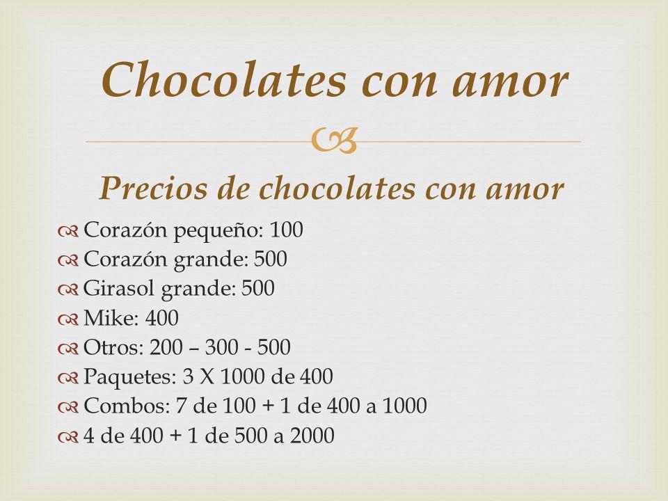 Chocolates con amor Instintivo La bolsita, que atrapa tus emociones, tus sentimientos y tu vida, la bolsa sirve para dar un toque de elegancia y de presentación, pero que su objetivo es llamar tu atención.