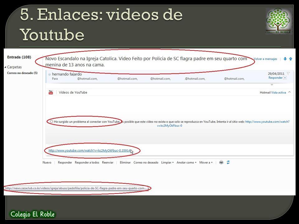 Al igual que el caso anterior, se envia un mensaje donde se invita a ver un video aparentemente de Youtube, pero el correo no logra cargarlo. Si pasam